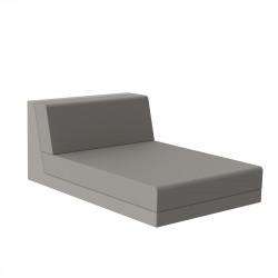 Salon de jardin design Pixel, module chaise longue, Vondom, tissu Silvertex Taupe