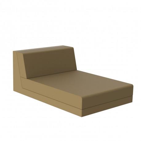 Salon de jardin design Pixel, module chaise longue, Vondom, tissu Silvertex Beige