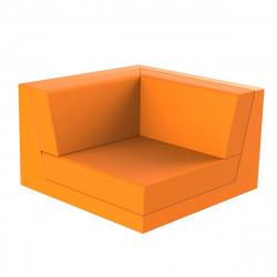 Canapé outdoor modulable Pixel, module gauche, Vondom, tissu Silvertex Orange