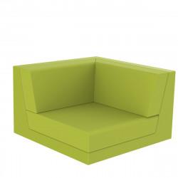 Canapé composable outdoor Pixel, module d'angle, Vondom, tissu Silvertex Vert Pistache