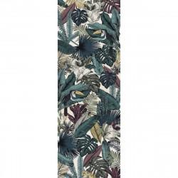 Tapis vinyle Feuilles Jungle rectangulaire, 95x300cm, collection Paradisio, Pôdevache