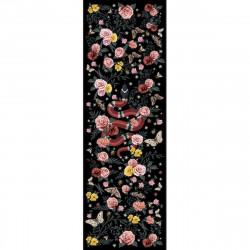 Tapis vinyle serpent fond noir rectangulaire, 95x300cm, collection Tattoo Compris, Pôdevache
