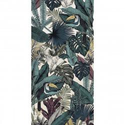 Tapis vinyle Feuilles Jungle rectangulaire, 99x198cm, collection Paradisio, Pôdevache