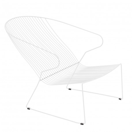 lot de 2 chaises, Lounge, indoor-outdoor Isimar blanc