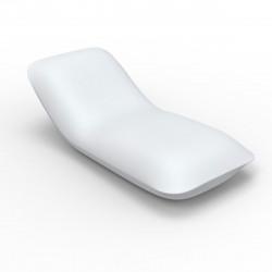 Chaise longue Pillow, Vondom blanc laqué brillant