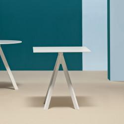 Table Arki-Base Ark4, blanc, Pedrali, H72xL79xl79