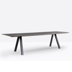 Table design Arki-table, noir, Pedrali, H74xL300xl100