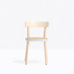 Lot de 2 chaises Folk 2920, frêne clair, détail blanc, Pedrali, H75xL45xl44.5