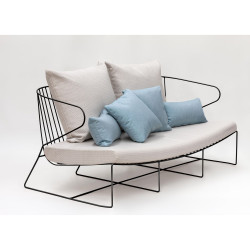 Sofa, indoor-outdoor Isimar noir