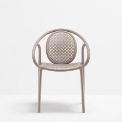 Lot de 4 fauteuils Remind 3735, Pedrali, beige
