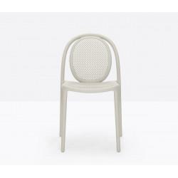 Lot de 4 chaises Remind 3730, Pedrali, beige