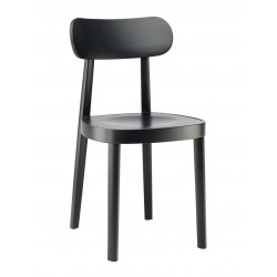 118 chaise assise bois, Thonet, noir