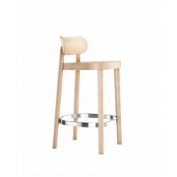 118 MHT tabouret hauteur d'assise 65cm bois, Thonet, hêtre blanchi