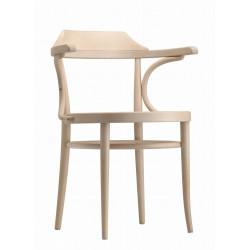 233, la chaise Thonet classique et familiale, assise cannée, hêtre blanchi