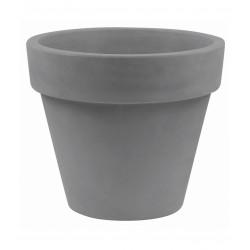 Lot de 2 Pots Maceta diamètre 50 x hauteur 43 cm, simple paroi, Vondom gris argent