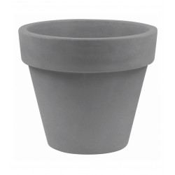 Lot de 2 Pots Maceta diamètre 60 x hauteur 52 cm, simple paroi, Vondom gris argent