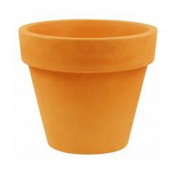 Lot de 2 Pots Maceta diamètre 60 x hauteur 52 cm, simple paroi, Vondom orange