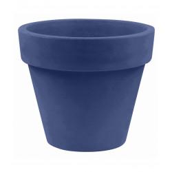Lot de 2 Pots Maceta diamètre 60 x hauteur 52 cm, simple paroi, Vondom bleu marine
