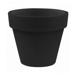 Lot de 2 Pots Maceta diamètre 60 x hauteur 52 cm, simple paroi, Vondom noir