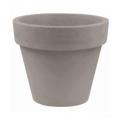 Pot Maceta diamètre 80 x hauteur 69 cm, simple paroi, Vondom taupe