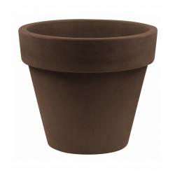 Pot Maceta diamètre 120 x hauteur 104 cm, simple paroi, Vondom bronze