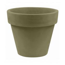 Pot Maceta diamètre 120 x hauteur 104 cm, simple paroi, Vondom kaki