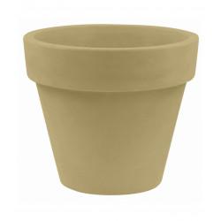 Pot Maceta diamètre 160 x hauteur 138 cm, simple paroi, Vondom beige