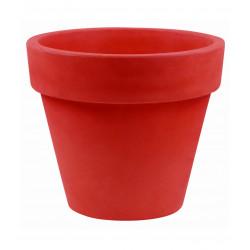 Pot Maceta diamètre 160 x hauteur 138 cm, simple paroi, Vondom rouge