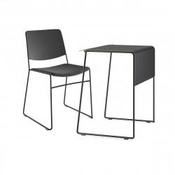Ensemble petit bureau et chaise Link 62, noir